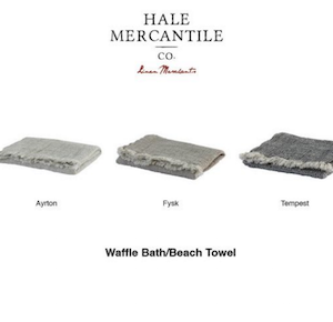 Hale Mercantiel's Pure Linen Waffle Bath Range