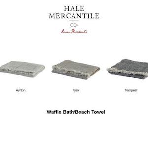 Hale Mercantiel's Pure Linen Waffle Bath Range
